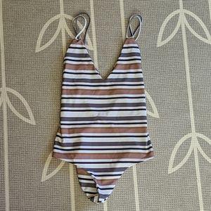 Citrine Swim Striped One-piece